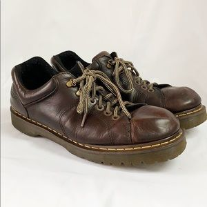 DR MARTENS Brown Leather Oxfords 10938 Size 13